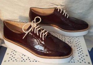 Mango Lace Shoes bordeaux-white