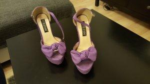 Escarpin à plateforme violet