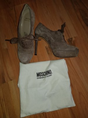 Moschino Cheap and Chic Décolleté con plateau marrone-grigio