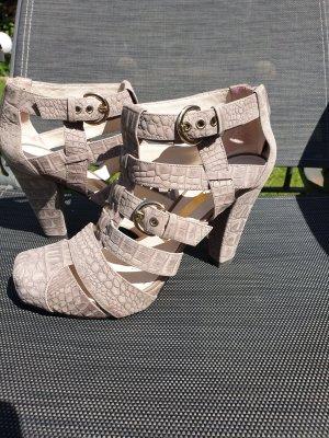 Sandalo con plateau argento