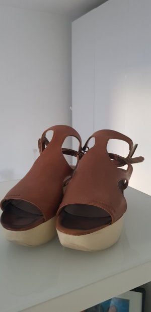 Jil Sander Wedge Sandals brown