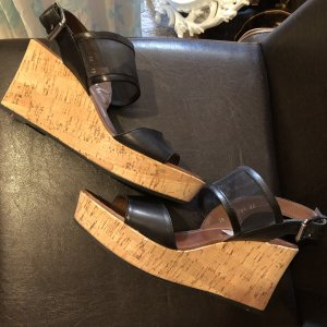 Lloyd Plateauzool sandalen zwart-lichtbruin