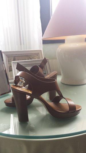 Cinti Plateauzool sandalen bruin