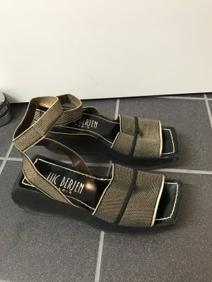 Plateausandalen gr. 38 schwarz Gold
