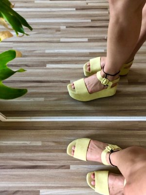 Mango Platform High-Heeled Sandal primrose imitation leather