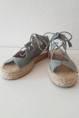 Asos Platform High-Heeled Sandal pale blue-sage green