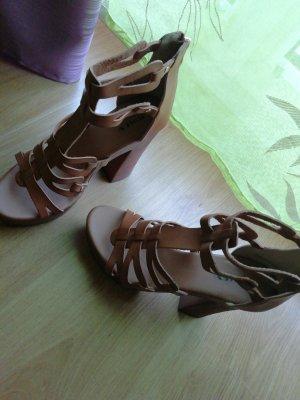Jumex High-Heeled Sandals light brown