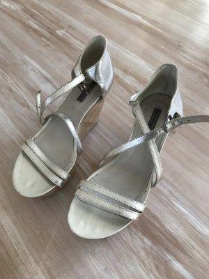 vic Platform Sandals silver-colored