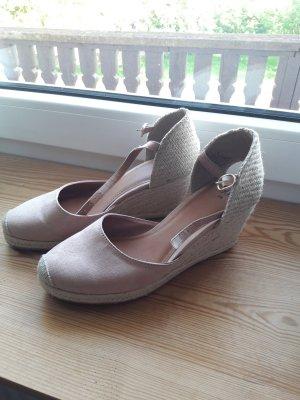 H&M Platform High-Heeled Sandal beige-dusky pink