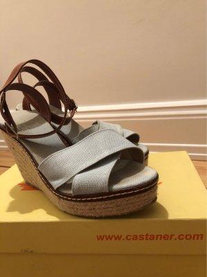 Castañer Plateauzool sandalen azuur