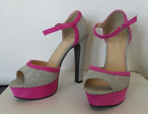 Belle Women Platform High-Heeled Sandal light grey-pink imitation leather