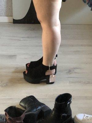 Asos Plateauzool sandalen zwart