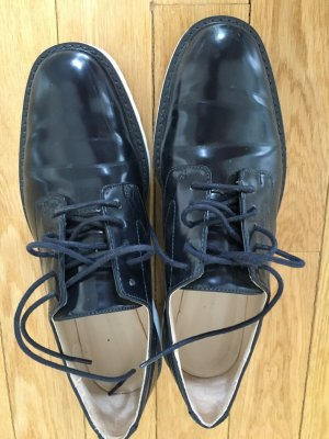 Zara Basic Business Shoes dark blue