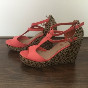 Plateauschuhe pink mit Muster
