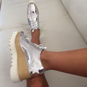 Plateauschuhe silber Sterne Sneakers Blogger Stella McCartney