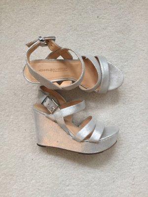Kennel + schmenger Platform High-Heeled Sandal silver-colored