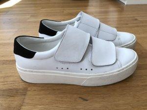 Mango Heel Sneakers white-black