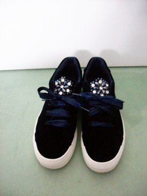 Catwalk Lace-Up Sneaker dark blue textile fiber