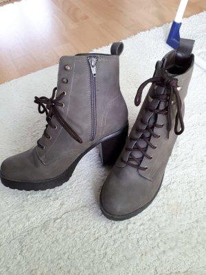 New Look Patucos con plataforma marrón grisáceo-gris
