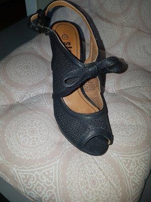 plateu sandaletten schwarz