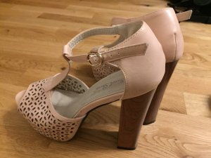 Plateusandaletten Süß Pastell Plateu High Heels