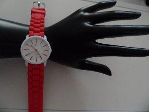 Platino Damen Rot Silikon   Modeuhr