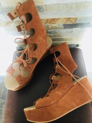 Topshop Platform Sandals orange