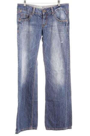 PLAY Jeans a zampa d'elefante azzurro-blu acciaio stile casual