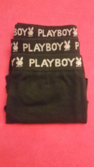 Playboy Hipster/Panty/Hüftpanty Schwarz Gr. M 3er Pack