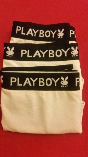 Playboy Hipster/Panty/Hüftpanty Weiß Gr. M 3er Pack