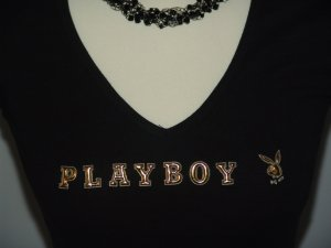 °°°PLAYBOY Shirt, USA, M, schwarz & gold°°°