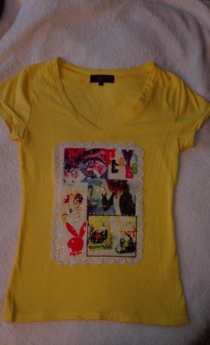 Playboy T-Shirt mit schönem Pailettenbild