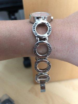 Playboy Horloge met metalen riempje lichtroze-zilver