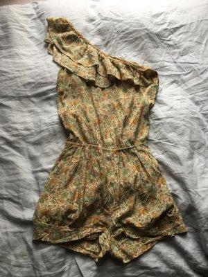Zara Robe asymétrique multicolore soie