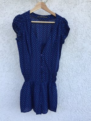 Playsuit PolkaDots blau Heart You ZARA TRF neuwertig, M