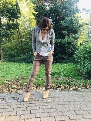 Please Jeans a 7/8 grigio stile casual Tessuto misto