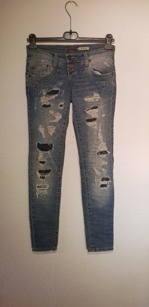 PLEASE Denim Jeans slim fit multicolore