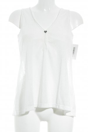 Please Basic Top white flecked simple style