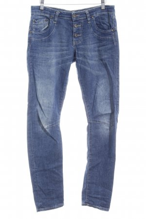 Please Bikerjeans graublau-stahlblau Casual-Look