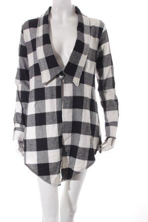 Please Bluse weiß-schwarz Karomuster minimalistischer Stil