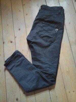 Please Boyfriend Jeans Gr. S schwarz Top Skinny