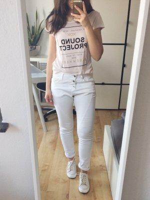 PLEASE Boyfriend Jeans Hose creme weiß Gr. XS