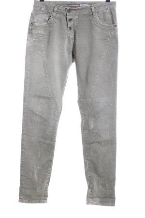 Please Pantalon boyfriend gris clair style décontracté