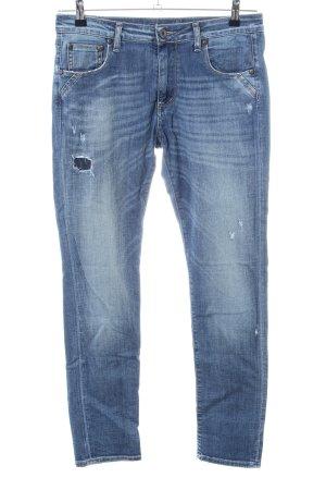 Please Boyfriend Jeans blue casual look