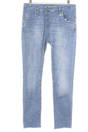 Please Boyfriend jeans blauw casual uitstraling