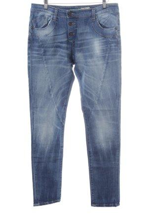 Please Jeans boyfriend bleu style décontracté