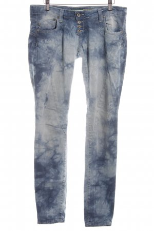 Please Boyfriendjeans hellblau Farbverlauf Used-Optik