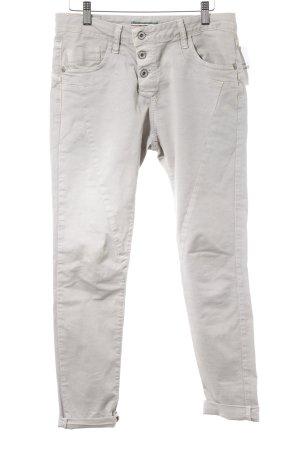 Please Boyfriend jeans lichtgrijs straat-mode uitstraling