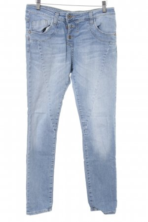 Please Boyfriendjeans himmelblau meliert Casual-Look