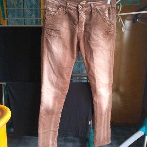 Please Jeans boyfriend marrone Cotone